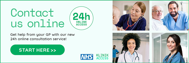 Contact us online. Get help from your GP with our new 24 hour online consultation service - KLINIK
